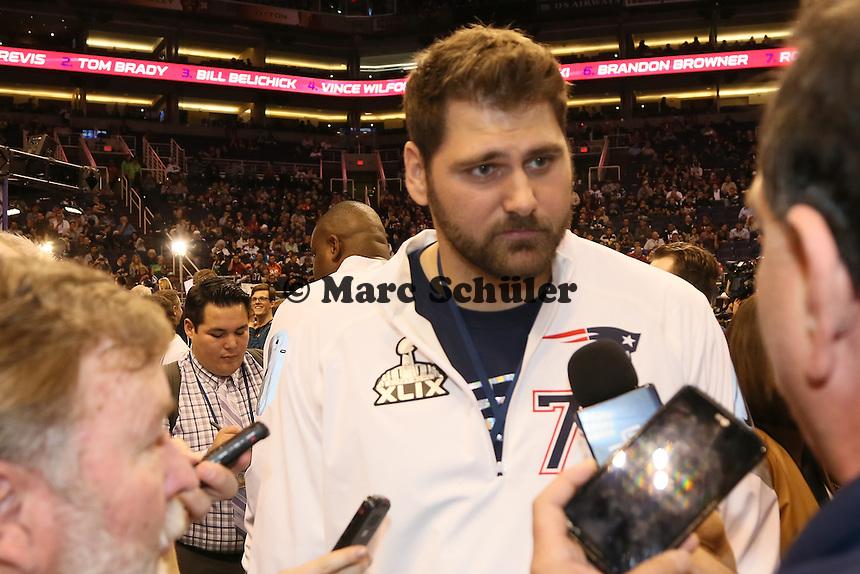 OT Sebastian Vollmer (Patriots)  - Super Bowl XLIX Media Day, US Airways Center, Phoenix