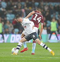 Preston North End's Alan Browne battles with  Aston Villa's Conor Hourihane<br /> <br /> Photographer Mick Walker/CameraSport<br /> <br /> The EFL Sky Bet Championship - Aston Villa v Preston North End - Tuesday 2nd October 2018 - Villa Park - Birmingham<br /> <br /> World Copyright &copy; 2018 CameraSport. All rights reserved. 43 Linden Ave. Countesthorpe. Leicester. England. LE8 5PG - Tel: +44 (0) 116 277 4147 - admin@camerasport.com - www.camerasport.com