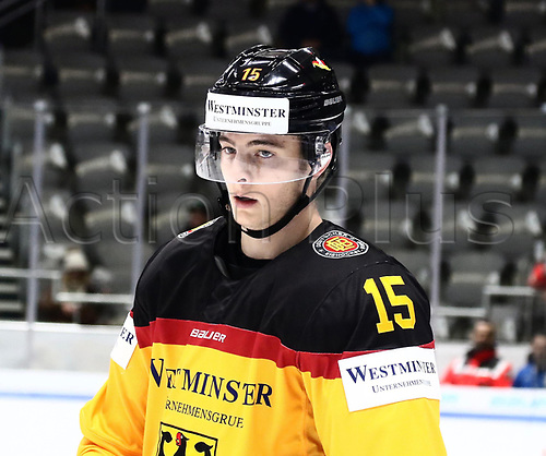 11th November 2017, Curt Frenzel Stadium, Augsburg, Germany; 2017 Deutschland Cup, Germany versus Slovakia; Stefan LOIBL (Germany), looks on disappointed as they go behind