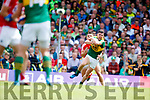 Michael Geaney Kerry in action against  Cork in the Munster Senior Football Final at Fitzgerald Stadium on Sunday.