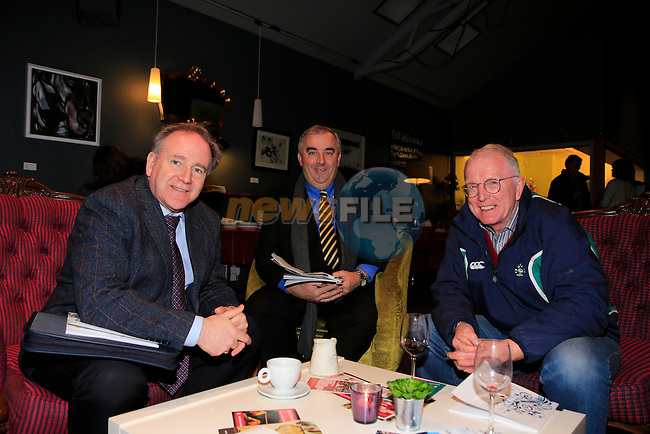 Patsy McGarry,  Sean Collins and ?????? at the launch of the Drogheda Civic Trust book in Drogheda Arts centre.<br /> Picture: Fran Caffrey www.newsfile.ie