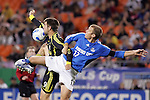 SEP 15  2007:  Jason Garey (9) of the Crew and Jimmy Conrad (12) of the Wizards battle for the ball.  The MLS Kansas City Wizards defeated the visiting Columbus Crew 3-2 at Arrowhead Stadium in Kansas City, Missouri, in a regular season league soccer match.