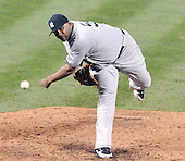 Baltimore, MD - May 8, 2009 -- New York Yankees pitcher C.C. Sabathia (52) pitches against the Baltimore Orioles at Oriole Park at Camden Yards in Baltimore, MD on Friday, May 8, 2009.  Sabathia pitched a complete game en route to a 4 - 0 victory..Credit: Ron Sachs / CNP.(RESTRICTION: NO New York or New Jersey Newspapers or newspapers within a 75 mile radius of New York City)