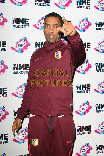 Wiley at The VO5 NME Awards 2017 at the O2 Academy, Brixton, London on February 15th 2017<br /> CAP/ROS<br /> &copy;Steve Ross/Capital Pictures