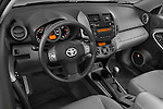 High angle dashboard view of 2008 Toyota Rav 4 Limited SUV Stock Photo