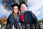 Amy Tyrrell (Limerick) and Petrina Comerford (Tralee), who graduated in Social Care Level 7, from IT Tralee, on Friday morning last, at the Brandon Conference Centre, Tralee.