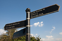 Finger post tourist signage