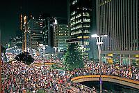 Manifestaçao em favor das ciclovias. Avenida Paulista. Sao Paulo. 2015. Foto de Lineu Kohatsu.