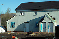COPY BY TOM BEDFORD MEDIA<br /> Pictured: The new house being built for Georgia Davis<br /> Re: Britain's fattest woman has had a house specially built for her - within half a mile of 13 takeaway restaurants.<br /> Sixty-stone Georgia Davis, 22, was given the £150,000 property because she no longer fits in her own home.<br /> It has a double front door and all internal corridors and rooms have been specially designed to accommodate her size. <br /> Georgia is nicknamed the Takeaway Princess by friends because she lives on pizzas, kebabs and chips.<br /> But she has been rehomed in the middle of a glut of restaurants waiting to deliver her favourite food.