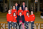 Derry QuaySmiles by the pupils of Derryquay National School,Tralee on Friday as the Bishop of Kerry confirmed them in St Johns Church, Tralee also in pic is their Principle Ed O'Brien..