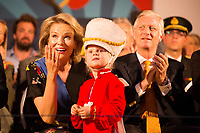 Queen Mathilde & King Philippe of Belgium attend the ' Bal National ' in Brussels - Belgium