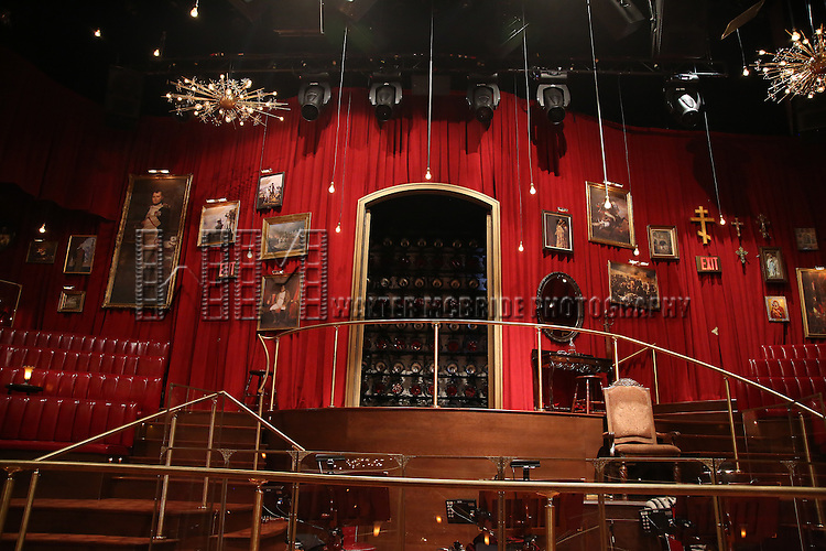 The stage during the Broadway Opening Night Actors' Equity Gypsy Robe Ceremony honoring Katrina Yaukey  for  'Natasha, Pierre & The Great Comet Of 1812' at The Imperial Theatre on November 14, 2016 in New York City.