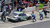 Casey Mears pit stop, Coke Zero 400, Daytona International Speedway, Daytona Beach , Florida, July 2014.  (Photo by Brian Cleary/www.bcpix.com)