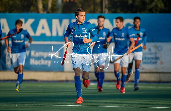 UTRECHT - Kampong heeft gescoord, , Derck de Vilder (Kampong) tijdens de hoofdklasse hockeywedstrijd mannen, Kampong-Amsterdam (4-3).  COPYRIGHT KOEN SUYK