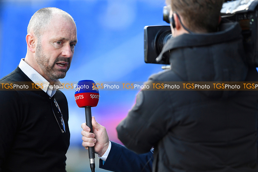 Reading Manager Mark Bowen talks to Skysports prior to kick off during Reading vs Hull City, Sky Bet EFL Championship Football at the Madejski Stadium on 8th February 2020