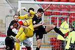 Rotherham United v Crawley Town<br /> 25.1.2014<br /> Sky Bet League One<br /> Picture Shaun Flannery/Trevor Smith Photography<br /> Rotherham's Miles Addison puts Crawley keeper, Paul Hones, under pressure.