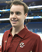 Tom Maguire (BC - Manager) - The Boston College Eagles practiced on Wednesday, April 4, 2012, during the 2012 Frozen Four at the Tampa Bay Times Forum in Tampa, Florida.