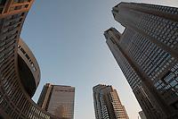 Shnjuku business district, Tokyo, Japan.<br /> March-2015