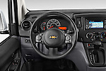 Car pictures of steering wheel view of a2015 Chevrolet City Express LT 5 Door Cargo Van Steering Wheel