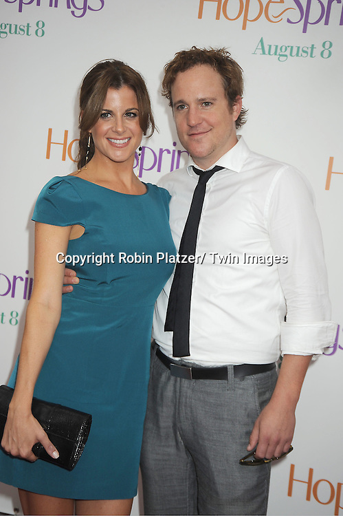 """Patch Darragh and date attends the World Premiere of """"Hope Springs"""" on August 6, 2012 at The SVA Theatre in New York City. The movie stars Meryl Streep, Tommy Lee Jones and Steve Carrell."""