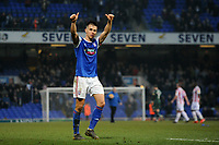 Ipswich Town's Jonas Knudsen applauds the fans at the final whistle <br /> <br /> Photographer Hannah Fountain/CameraSport<br /> <br /> The EFL Sky Bet Championship - Ipswich Town v Stoke City - Saturday 16th February 2019 - Portman Road - Ipswich<br /> <br /> World Copyright © 2019 CameraSport. All rights reserved. 43 Linden Ave. Countesthorpe. Leicester. England. LE8 5PG - Tel: +44 (0) 116 277 4147 - admin@camerasport.com - www.camerasport.com