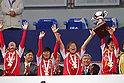 INAC Kobe Leonessa team group,.JANUARY 1, 2012 - Football / Soccer :.(L-R) Homare Sawa, Ji So-Yun, Asuna Tanaka and Miwa Yonetsu of INAC Kobe Leonessa celebrate with the trophy during the award ceremony after winning the 33rd All Japan Women's Football Championship final match between INAC Kobe Leonessa 3-0 Albirex Niigata Ladies at National Stadium in Tokyo, Japan. (Photo by Katsuro Okazawa/AFLO)