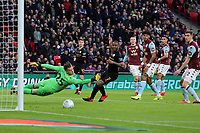 Phil Foden of Manchester City shoots across goal during Aston Villa vs Manchester City, Caraboa Cup Final Football at Wembley Stadium on 1st March 2020