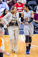 Washington, DC - Sept 17, 2017: Minnesota Lynx forward Maya Moore (23) talks to Lynx head coach during a free throw attempt during playoff game between the Mystics and Lynx at the Verizon Center in Washington, DC. (Photo by Phil Peters/Media Images International)