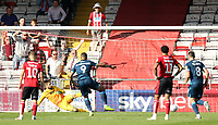 Bristol Rovers' Jonson Clarke-Harris scores the opening goal from the penalty spot<br /> <br /> Photographer Rich Linley/CameraSport<br /> <br /> The EFL Sky Bet League One - Lincoln City v Bristol Rovers - Saturday September 14th 2019 - Sincil Bank - Lincoln<br /> <br /> World Copyright © 2019 CameraSport. All rights reserved. 43 Linden Ave. Countesthorpe. Leicester. England. LE8 5PG - Tel: +44 (0) 116 277 4147 - admin@camerasport.com - www.camerasport.com