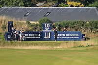 Jyoti Randhawa (IND) on the 10th tee during Round 1 of the 2015 Alfred Dunhill Links Championship at Kingsbarns in Scotland on 1/10/15.<br /> Picture: Thos Caffrey | Golffile