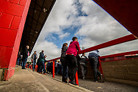 Cheltenham fans ahead of the Sky Bet League 2 match between Cheltenham Town and Grimsby Town at the The LCI Rail Stadium,  Cheltenham, England on 17 April 2017. Photo by PRiME Media Images / Mark Hawkins.