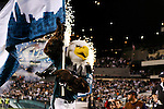 "15 Dec 2008: Philadelphia Eagles mascot ""Swoop"" enters the field before the game against the Cleveland Browns on December 15th, 2008. The Eagles won 30-10 at Lincoln Financial Field in Philadelphia, Pennsylvania"