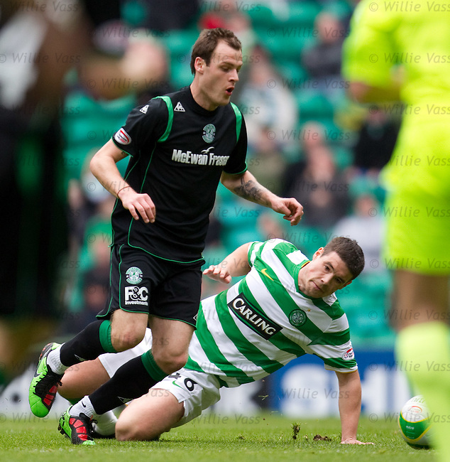 Darren O'Dea tackles fellow countryman Anthony Stokes but gets injured in the process