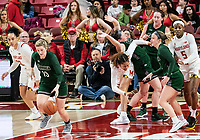 COLLEGE PARK, MD - DECEMBER 8: Isabella Therien #13 of Loyola dribbles upcourt during a game between Loyola University and University of Maryland at Xfinity Center on December 8, 2019 in College Park, Maryland.