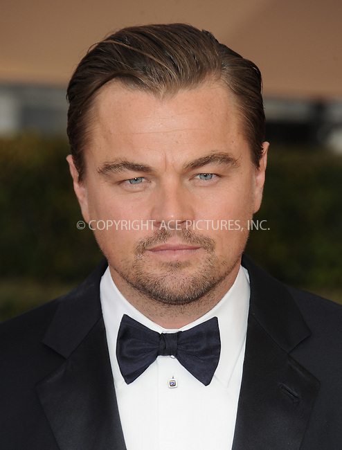 WWW.ACEPIXS.COM<br /> <br /> January 30 2016, LA<br /> <br /> Leonardo DiCaprio arriving at the 22nd Annual Screen Actors Guild Awards at the Shrine Auditorium on January 30, 2016 in Los Angeles, California<br /> <br /> By Line: Peter West/ACE Pictures<br /> <br /> <br /> ACE Pictures, Inc.<br /> tel: 646 769 0430<br /> Email: info@acepixs.com<br /> www.acepixs.com
