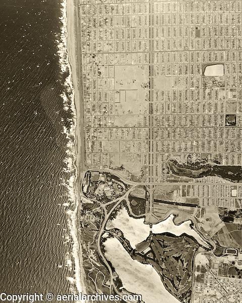historical aerial photograph Sunset district, San Francisco, California, 1946
