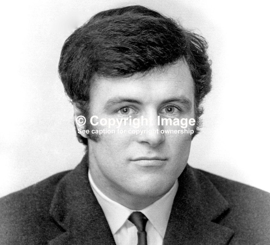 Willy Oakes, rugby player, Instonians, Belfast, N Ireland, Irish International trialist, many years later president, Instonians Rugby Football Club, 197111290501b<br />