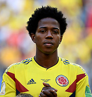 SAMARA - RUSIA, 28-06-2018: Carlos SANCHEZ jugador de Colombia durante los actos protocolarios previo al partido de la primera fase, Grupo H, entre Senegal y Colombia por la Copa Mundial de la FIFA Rusia 2018 jugado en el estadio Samara Arena en Samara, Rusia. / Carlos SANCHEZ player of Colombia during the formal events prior the match between Senegal and Colombia of the first phase, Group H, for the FIFA World Cup Russia 2018 played at Samara Arena stadium in Samara, Russia. Photo: VizzorImage / Julian Medina / Cont