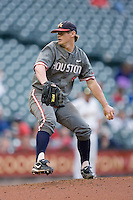 Starting pitcher Wes Musick #4 of the Houston Cougars in action versus the Baylor Bears in the 2009 Houston College Classic at Minute Maid Park February 27, 2009 in Houston, TX.  The Bears defeated the Cougars 3-2. (Photo by Brian Westerholt / Four Seam Images)