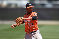 Houston Astros Cesar Carrasco (73) during a minor league spring training game against the Atlanta Braves on March 29, 2015 at the Osceola County Stadium Complex in Kissimmee, Florida.  (Mike Janes/Four Seam Images)