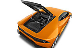 Car Stock 2015 Lamborghini Huracan LP 6104 2 Door Coupe Engine high angle detail view