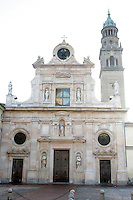 La facciata della Abbazia di San Giovanni Evangelista a Parma.<br /> Exterior of the Abbey of San Giovanni Evangelista in Parma.<br /> UPDATE IMAGES PRESS/Riccardo De Luca