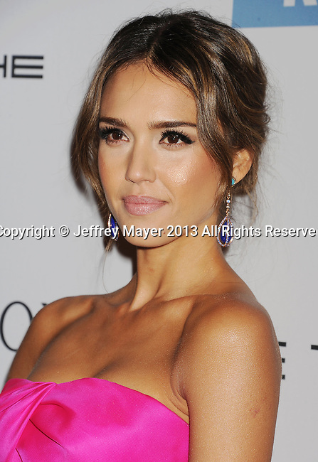 CULVER CITY, CA- NOVEMBER 09: Actress Jessica Alba arrives at the 2nd Annual Baby2Baby Gala at The Book Bindery on November 9, 2013 in Culver City, California.