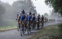 Team Deceuninck Quick Step in front of the peloton<br /> <br /> Dwars Door Het Hageland 2020<br /> One Day Race: Aarschot – Diest 180km (UCI 1.1)<br /> Bingoal Cycling Cup 2020