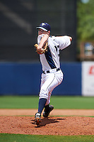 GCL Rays pitcher Justin Marsden (23) delivers a pitch during the second game of a doubleheader against the GCL Red Sox on August 4, 2015 at Charlotte Sports Park in Port Charlotte, Florida.  GCL Red Sox defeated the GCL Rays 2-1.  (Mike Janes/Four Seam Images)