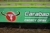 Carabao who are sponsoring the Cup competition promote their energy drink on the advertising boards around the ground during Forest Green Rovers vs MK Dons, Carabao Cup Football at The New Lawn on 8th August 2017