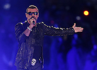 12.08.2012. London, England Singer George Michael performs during the Closing Ceremony of the London 2012 Olympic Games at the Olympic stadium, London, Britain, 12 August 2012.