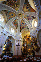 Baroque interior of The Carmelite church - ( Gy?r )  Gyor Hungary