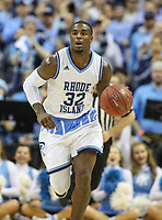 Washington, DC - March 10, 2018: Rhode Island Rams guard Jared Terrell (32) in action during the Atlantic 10 semi final game between Saint Joseph's and Rhode Island at  Capital One Arena in Washington, DC.   (Photo by Elliott Brown/Media Images International)