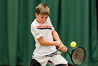 Wateringen, The Netherlands, March 9, 2018,  De Rijenhof , NOJK 12/16 years, Manvydas Baldunas (NED)<br /> Photo: www.tennisimages.com/Henk Koster
